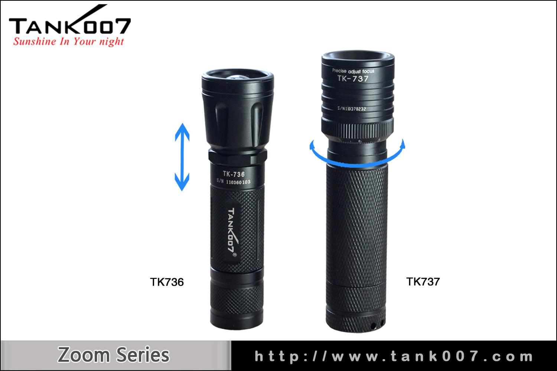 tank007 Zoom Flashlight